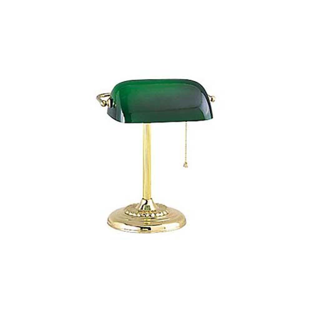 Bankers Lamp Green. Vintage Portable Desk Lamp Green Shade. Desk ...