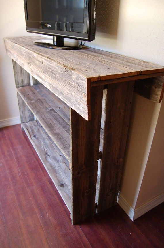Genial Raw Wood Console Table. Large Media TV Table By TRUECONNECTION