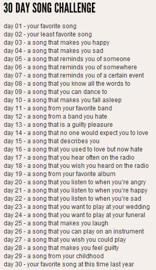 Image result for 30 day music challenge 2019