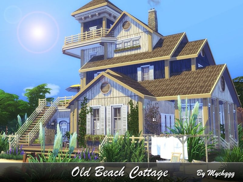 Old Beach Cottage Is A Perfect House For Family Vacation Built On 40x30 Lot In Newcrest Found In Tsr Category Sims 4 Res Sims House Sims 4 House Design Sims
