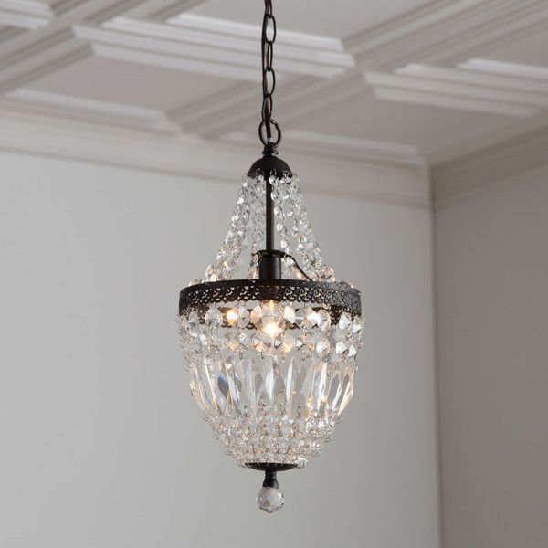 Draped With Sparkling Crystals The Evelynne Our Fab Farmhouse On A Small Scale Bronze Finishe Crystal Pendant Lighting Crystal Chandelier Bathroom Chandelier