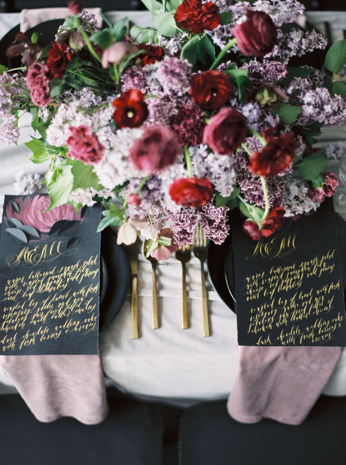 Luxury Hand Painted Wedding Invitations with Moody