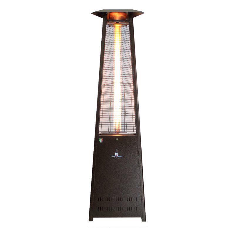 Lava Heat Italia Triangular 8 ft. Commercial Flame Patio Heater - Unassembled - LHI-1
