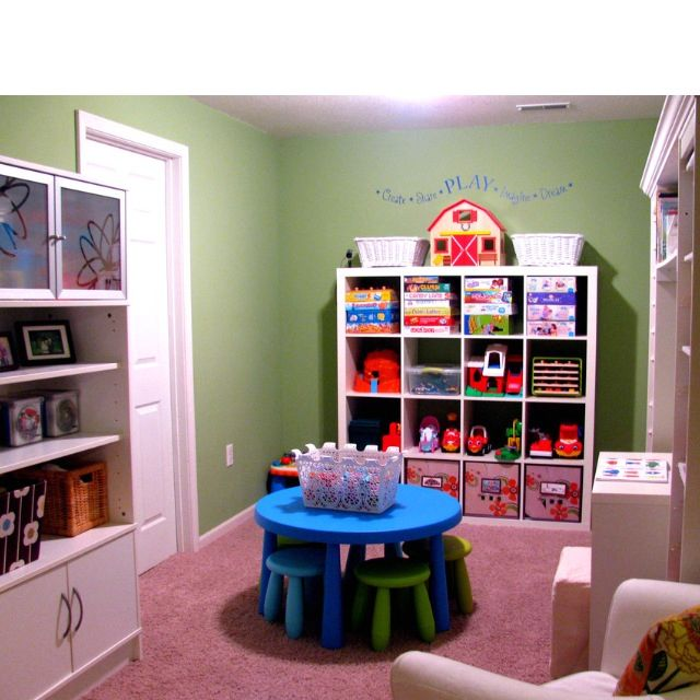 Colorful Playroom Design: Playroom Idea Like The Cube Storage
