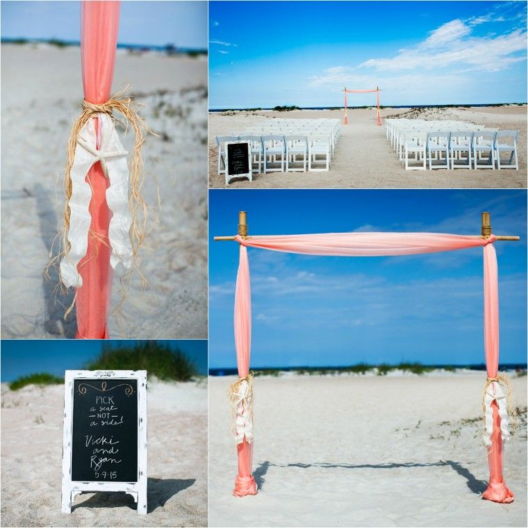 Nautical Two Post Arbor Starfish Accents Sun And Sea Beach Weddings