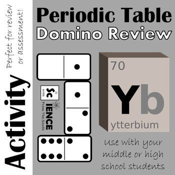 Periodic table domino review activity periodic table fun fun activity for reviewing or assessing student understanding of the periodic table urtaz Images