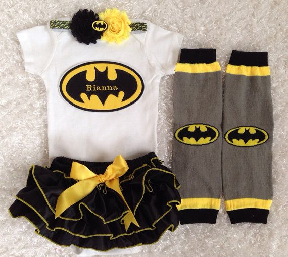 Superhero Batman Bat Girl Bloomer Set Black By
