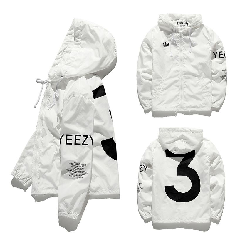 Yeezy Yeezus Jacket Men Kanye Tour Hip Hop Army Military Windbreaker Jacket Baseball Mens Coat Men Bape Outdoor Brand Man Jacke Yeezy Youth Fashion Windbreaker