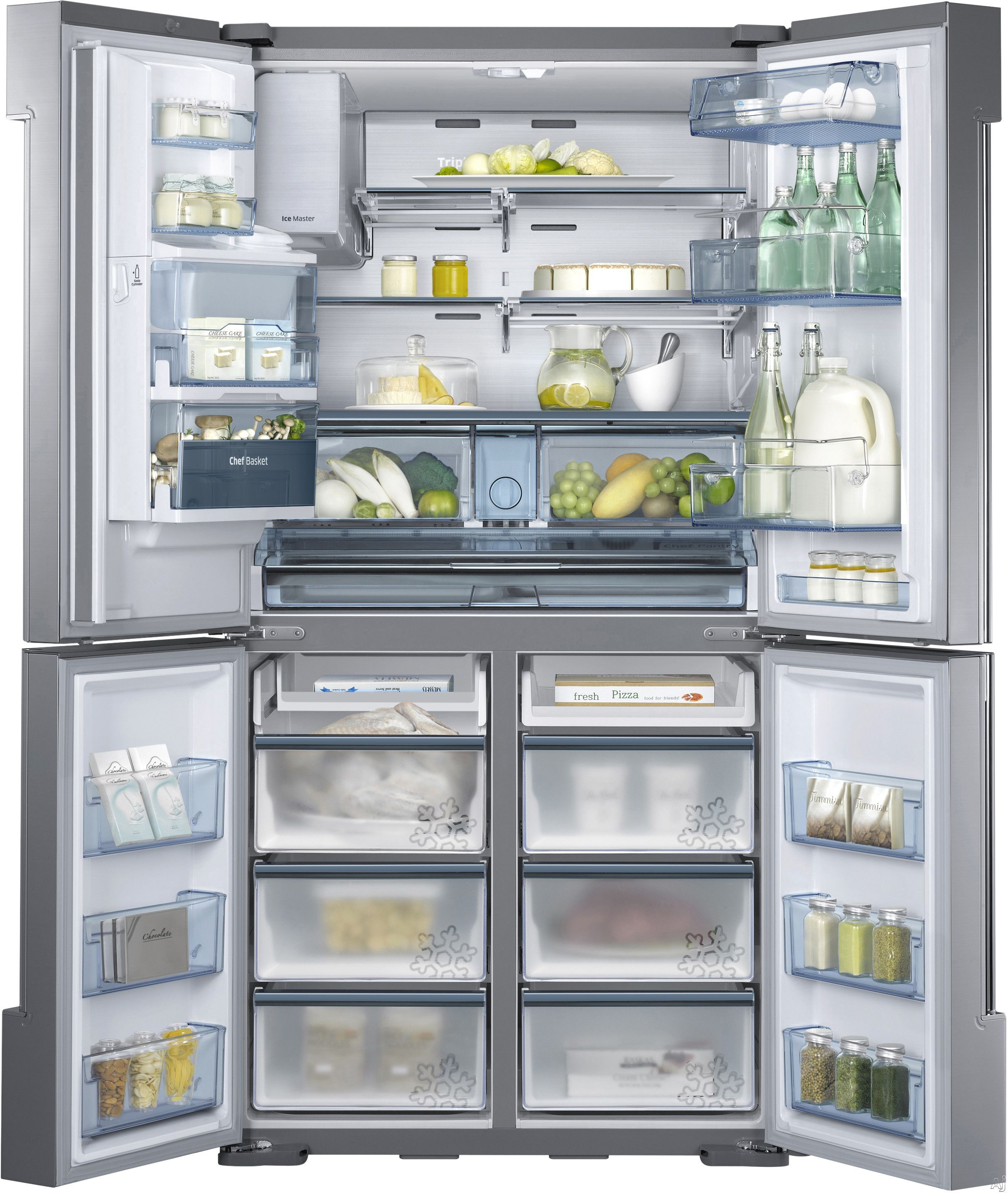 Samsung Rf34h9960s4 34 3 Cu Ft French Door Refrigerator With 5