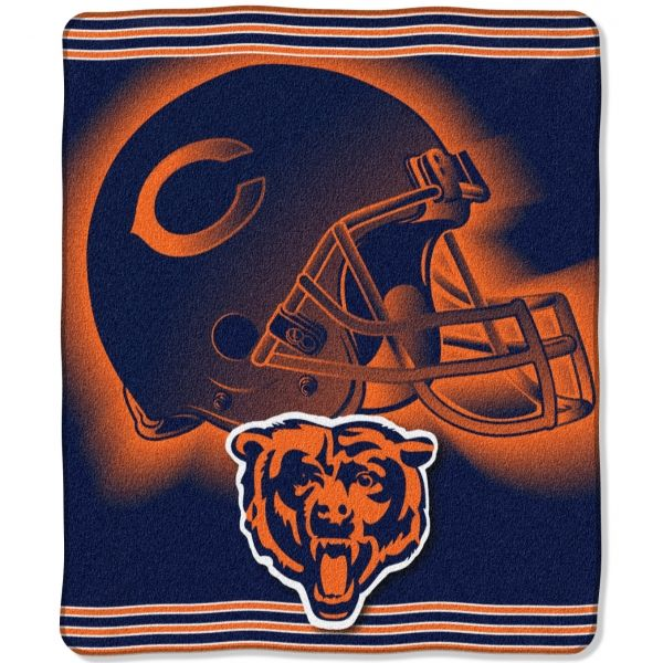 """Another Chicago Bears NFL """"Tonal"""" 50"""" x 60"""" Super Plush Throw"""