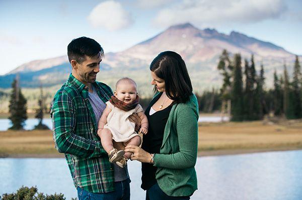 {Family Portrait} Family Portrait Sparks Lake Central Oregon | Central Oregon Portrait Photographer Kimberly Kay Photography