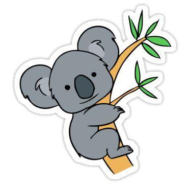 Cute Koala Sticker By Kacy Lynne In 2021 Koala Drawing Koala Illustration Animal Drawings