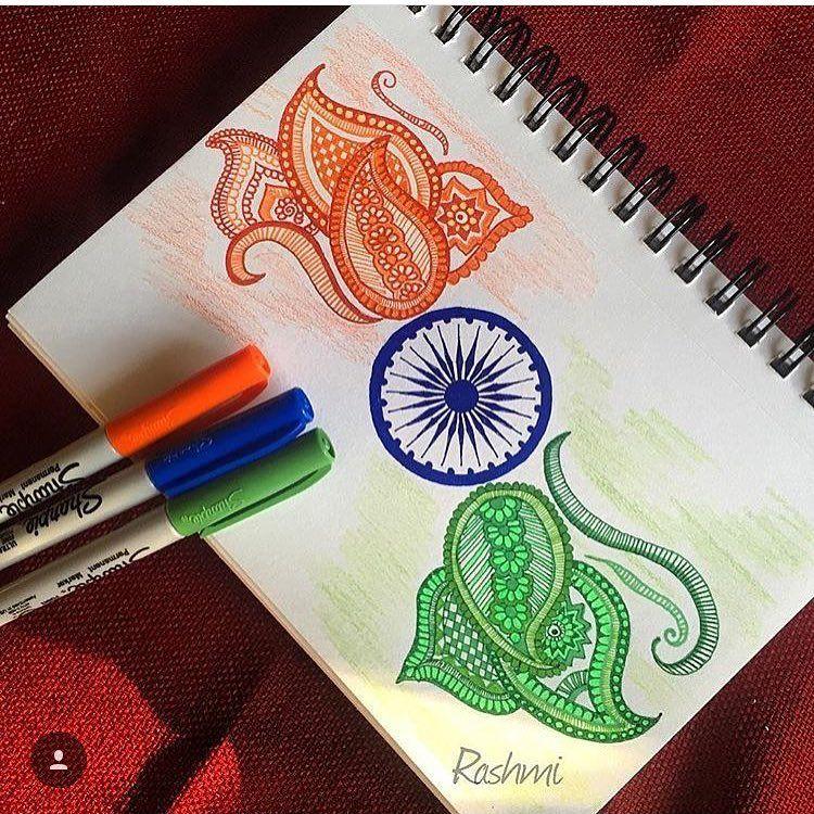 Repost India Flag Doodle Indiaindependenceday Potpourriofartists Indianart Indianartist Indiaflag Zentangleart Z India Flag Flag Drawing Doodle Art
