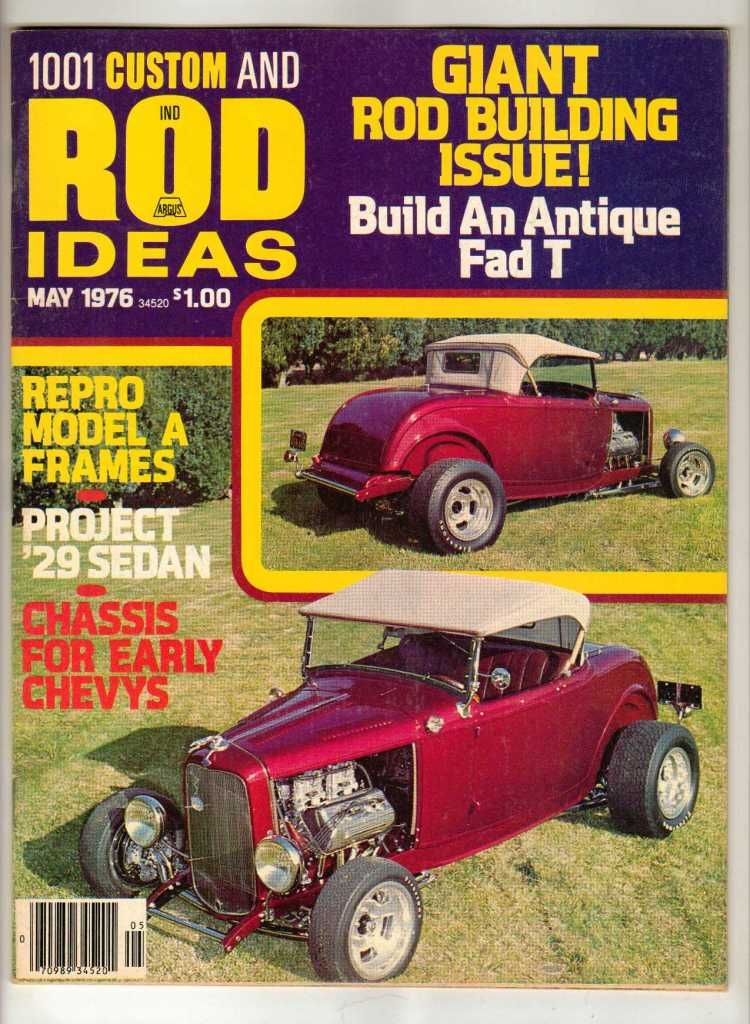 1001 Custom & Rod Ideas May 1976 Antique Ford Chevy Old Vintage Car ...
