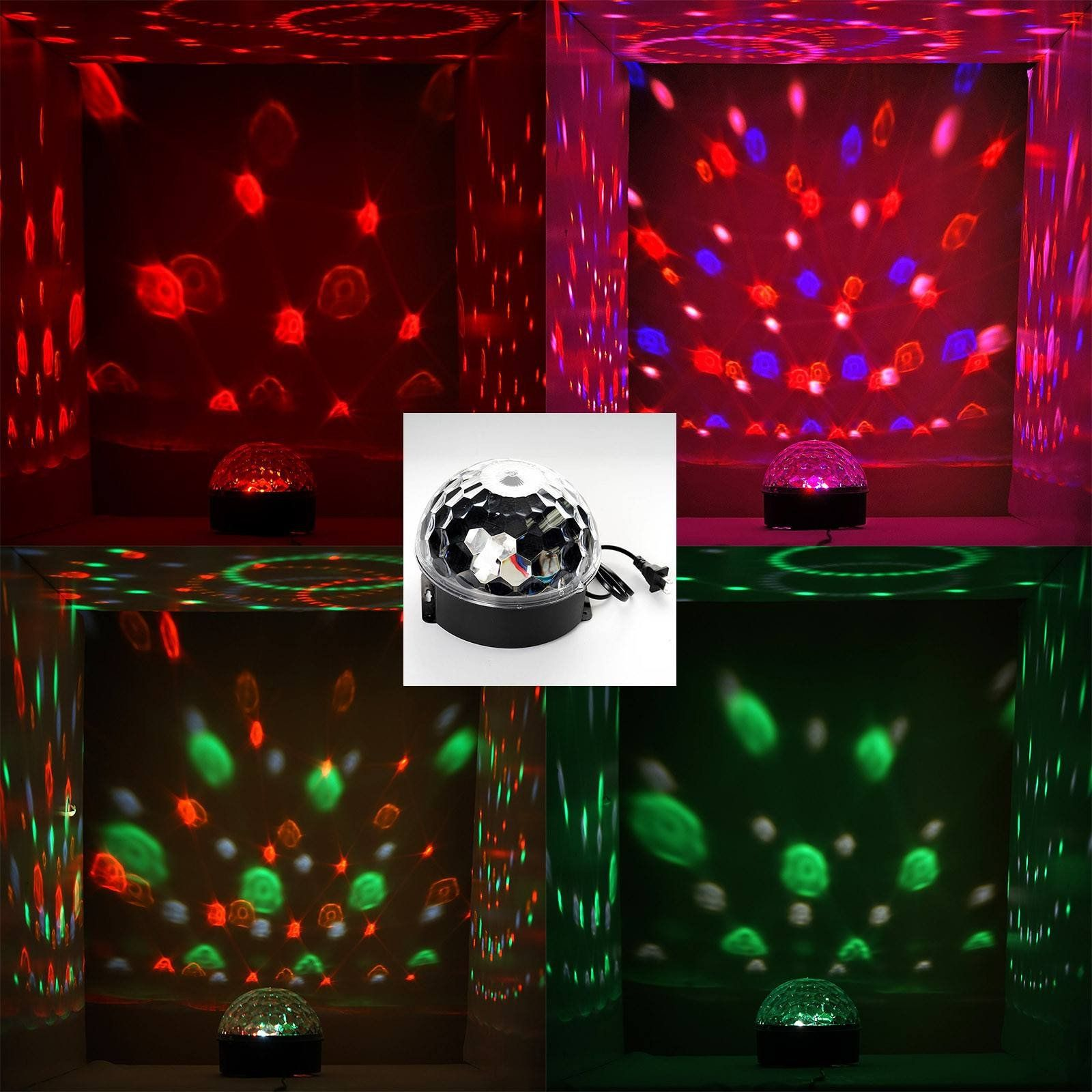Sound Activated Strobe Light Rgb Disco Lights With 6 Ultra
