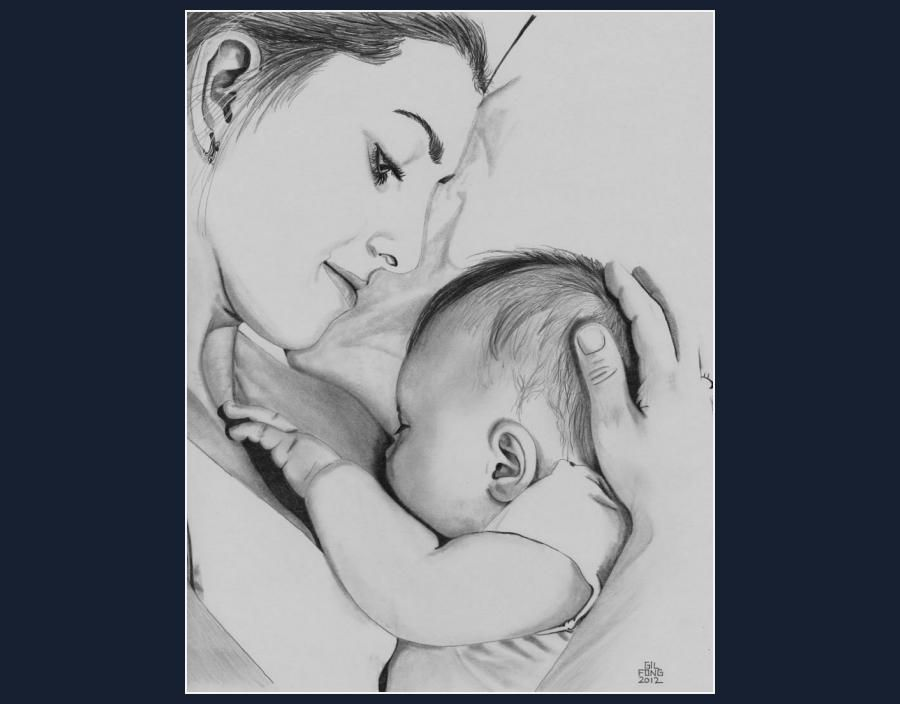 Mothers love in pencil creative art sketching touchtalent com