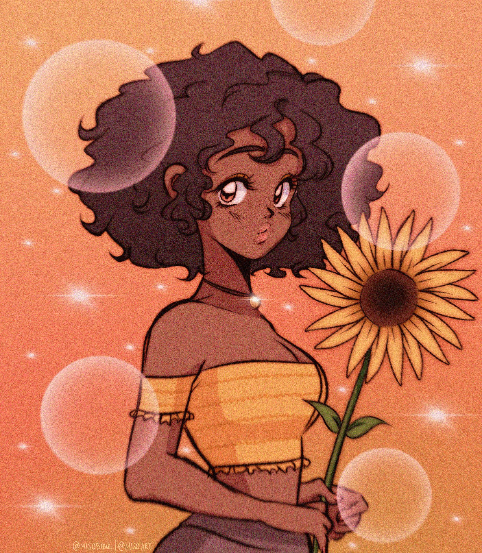 🎀MISO🎀 on Twitter  Cartoon art styles, Black girl magic art