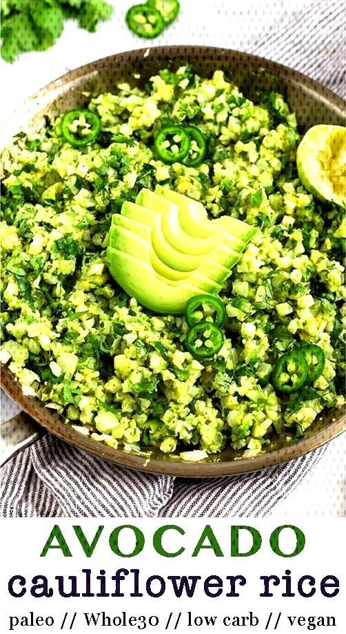 Avocado Cauliflower Rice - Avocado Cauliflower Rice takes cauliflower rice and mixes it with mashe