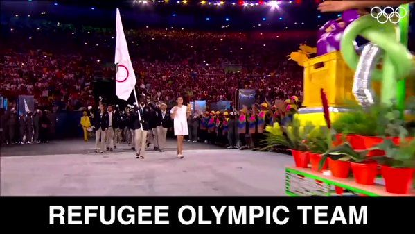 You give us hope. On this day 1 year ago the Refugee Olympic Team was created. #tbt   @RefugeesOlympic https://t.co/p2S2Z9MqXS