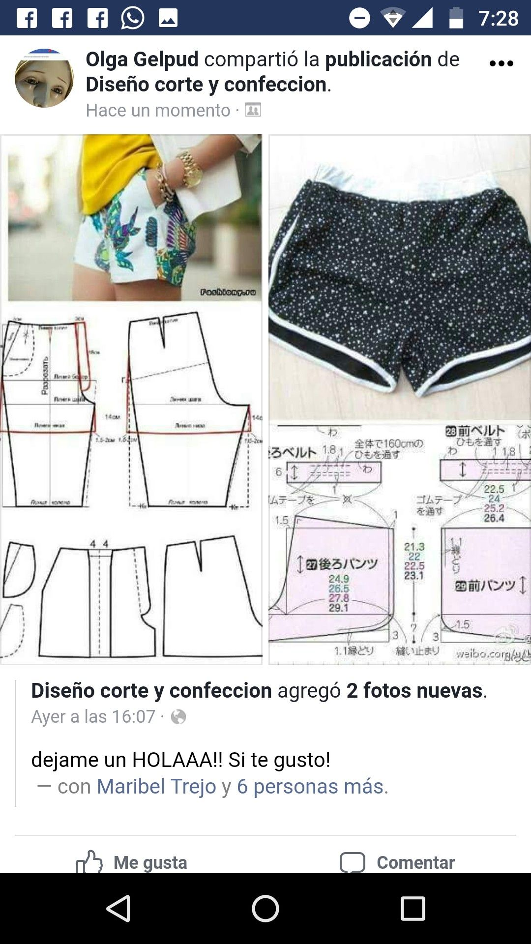 Pin by Tatito AP on patrones | Pinterest | Shorts, Patterns and ...