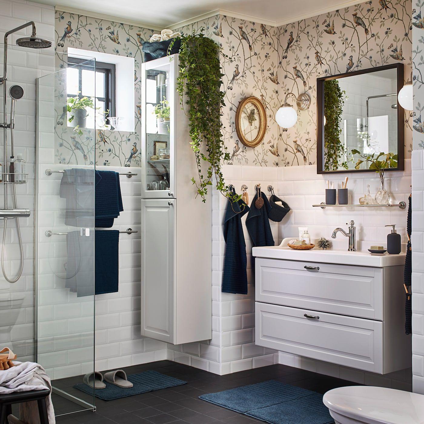 Ein Romantischer Entspannender Waschraum In 2020 Ikea Bathroom Bathroom Furniture Inspiration Ikea Godmorgon