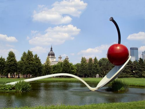Spoonbridge With Cherry In Minneapolis Sculpture Garden. What A Great Back  Drop For A Wedding
