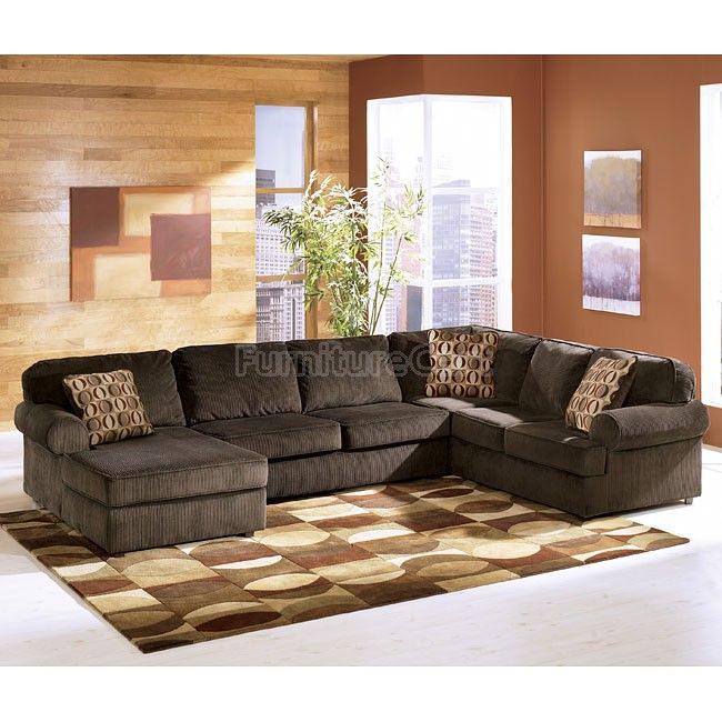 Vista Chocolate Left Facing Chaise Sectional Living Room Sectional Ashley Furniture Sectional Furniture