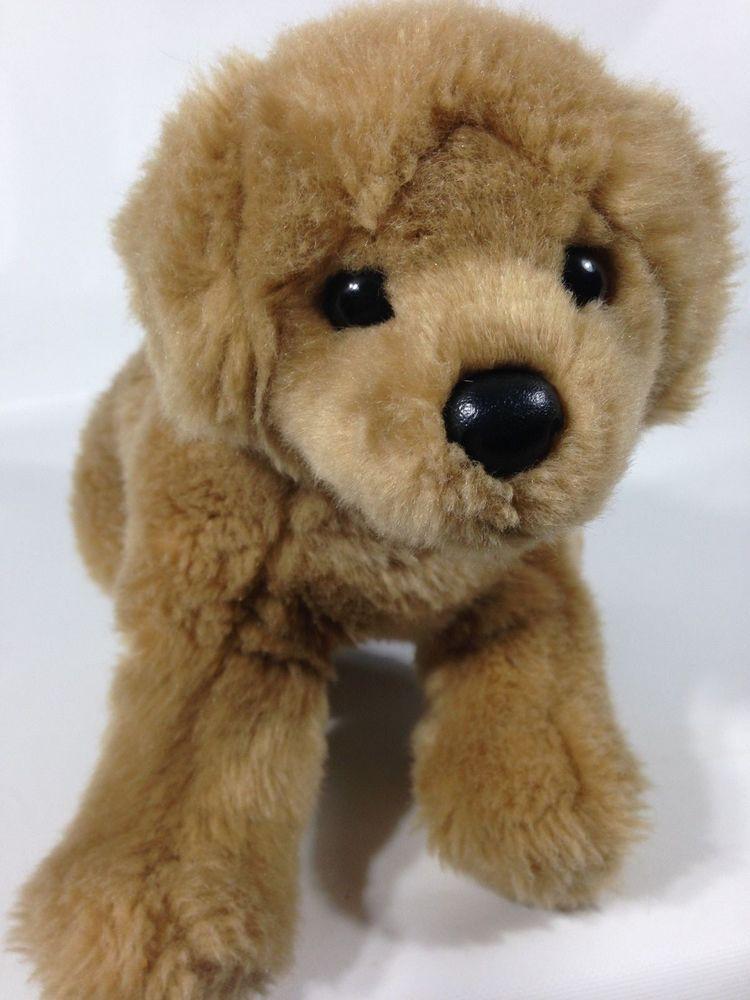 Douglas Cuddle Plush 12 Honey Tan Lifelike Golden Retriever Puppy