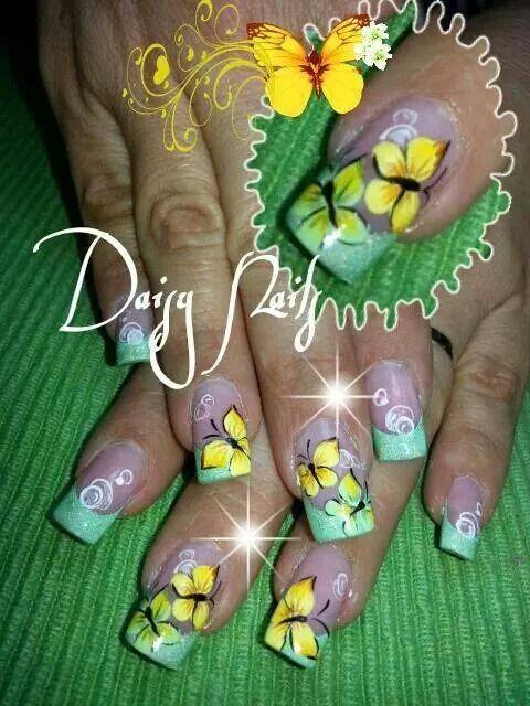 Bonito Arte Del Uña Con Gemas Bosquejo - Ideas de Pintar de Uñas ...