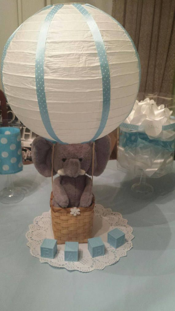 Elephant Hot Air Balloon Baby Shower Centerpiece