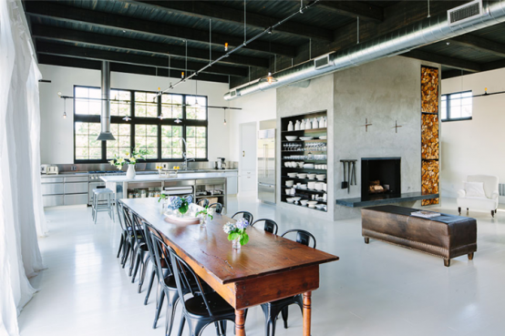 track lighting industrial look. Track Lighting Industrial Look. · Space Turned Into A Cozy Open- Look