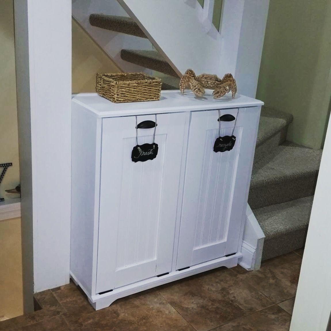Wood trash bin. Handmade from scratch. Each can is custom built to ...