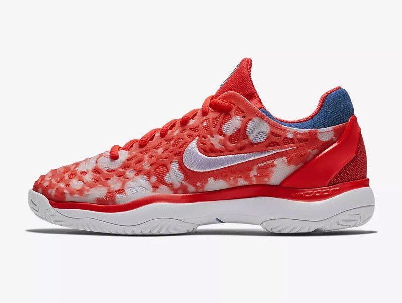 Nike Air Zoom Cage 3 Women's Tennis Shoes Red Hard Court Racket ...