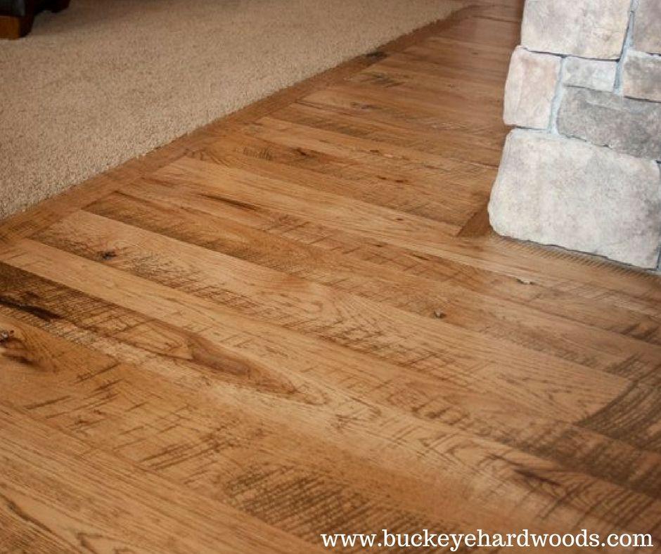 Circle Sawn Hickory Flooring Buckeyehardwoods Www Buckeyehardwoods Com Hardwood Lumber Rustic Flooring Hickory Flooring