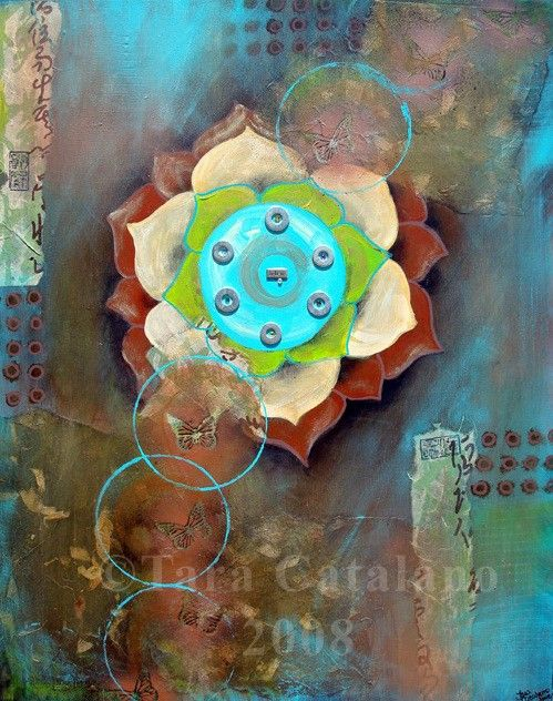"""Believe""  -Original Mixed Media abstract Painting by Tara Catalano"