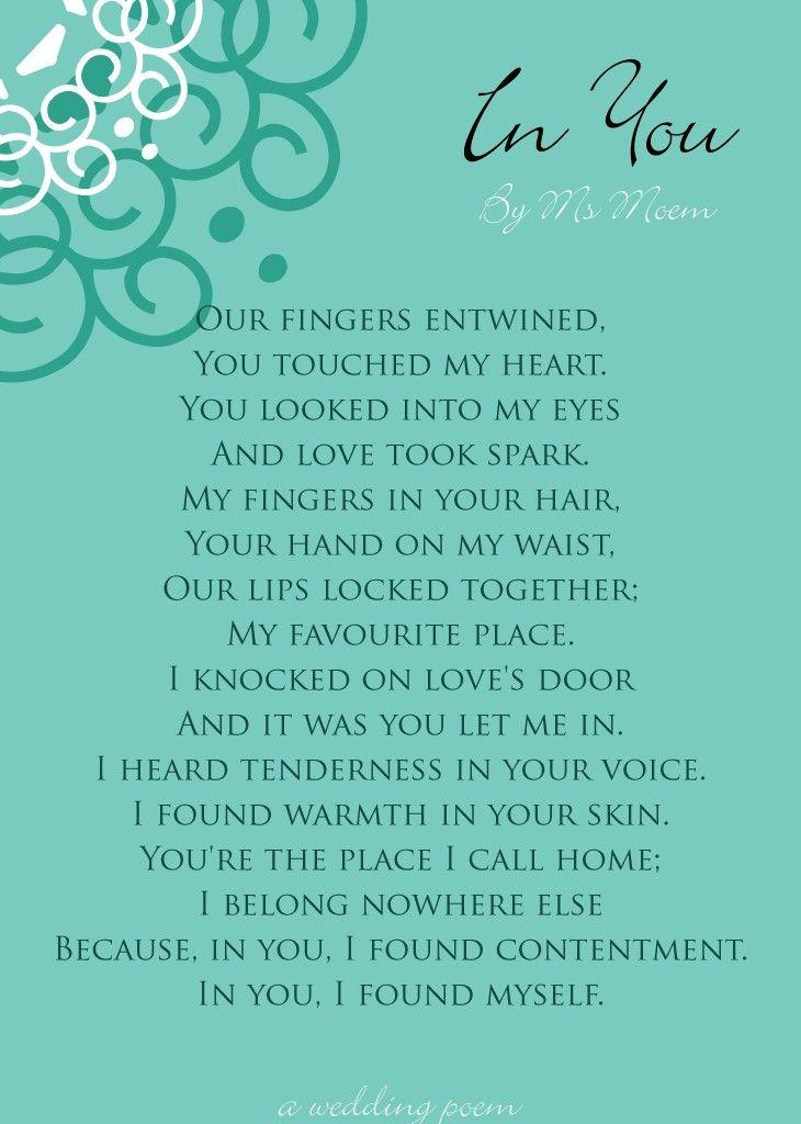 In You Wedding Poem Country Wedding Decor Ideas Wedding Poems