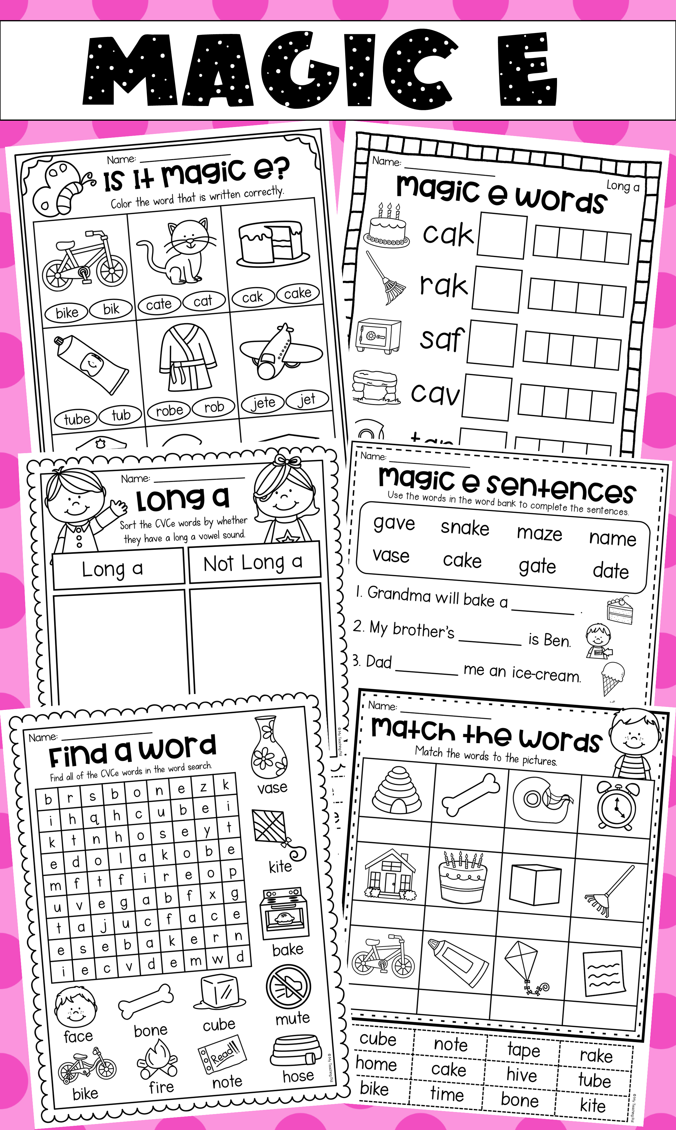 Magic E Worksheets And Activities In