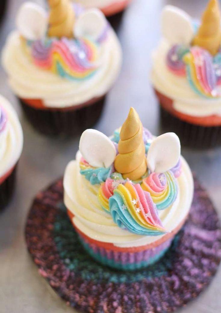 Photo of 30 Fantásticos Cupcakes de Unicornio super Fáciles de Hacer Paiges 6th BDay p… – Ostern