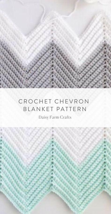Free Pattern - Crochet Chevron Blanket | Tejidos | Pinterest ...