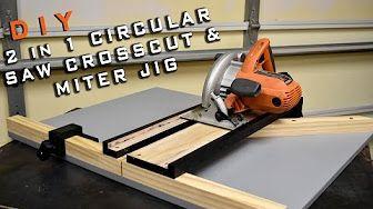 2 In 1 Circular Saw Crosscut Miter Jig Kruglaya Pila Verstak Samodelnye Instrumenty