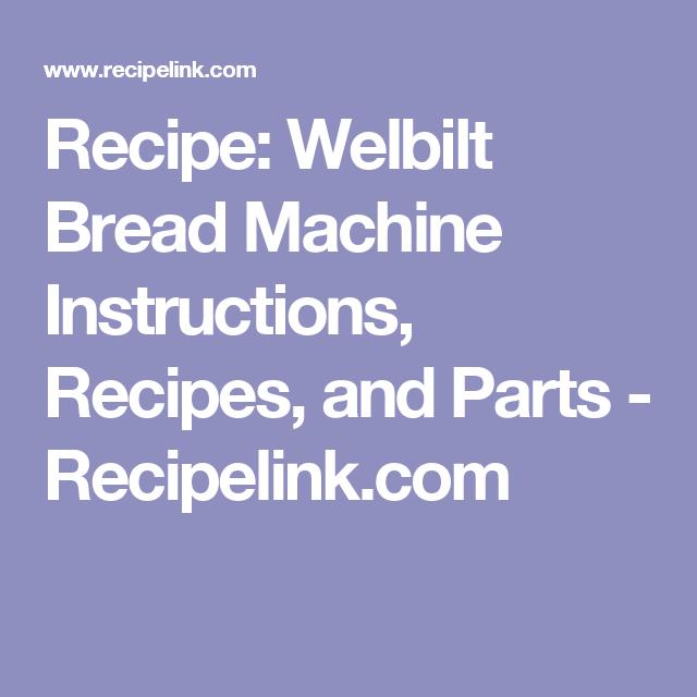 elevation breadmaker instruction manual