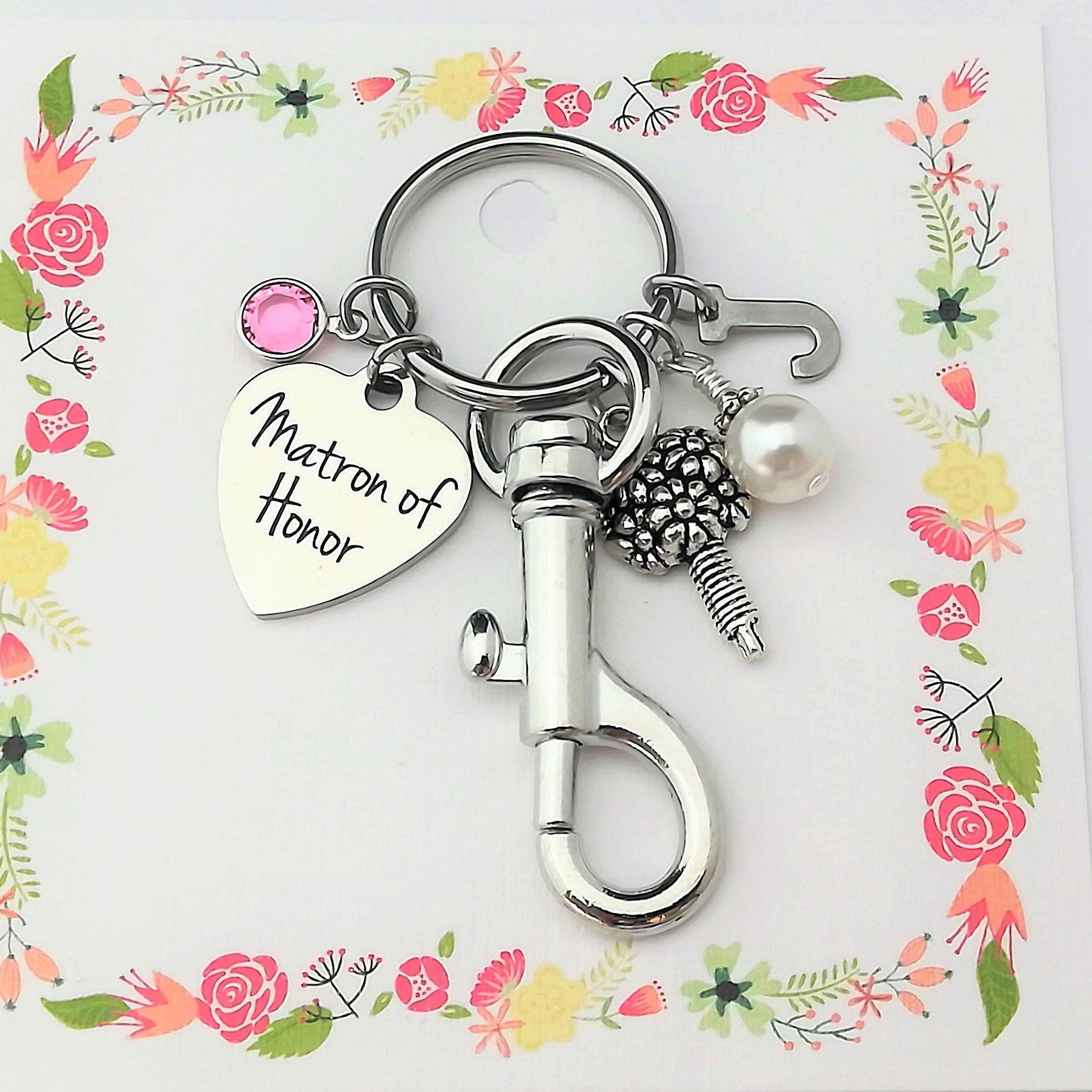 Bridesmaid proposal key chain bridesmaid gift asking