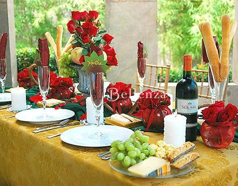 A Romantic Tuscan Wedding Tablescape Inspired by Wine! - Unique Wedding Ideas from the Wedding Bistro at Bellenza. Italian PartyItalian TableItalian ... & A Romantic Tuscan Wedding Tablescape: Inspired by Wine   Italian ...