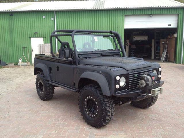 Open Top Landrover With Linex Coated Body Land Rover Land Rover Defender Vehicles