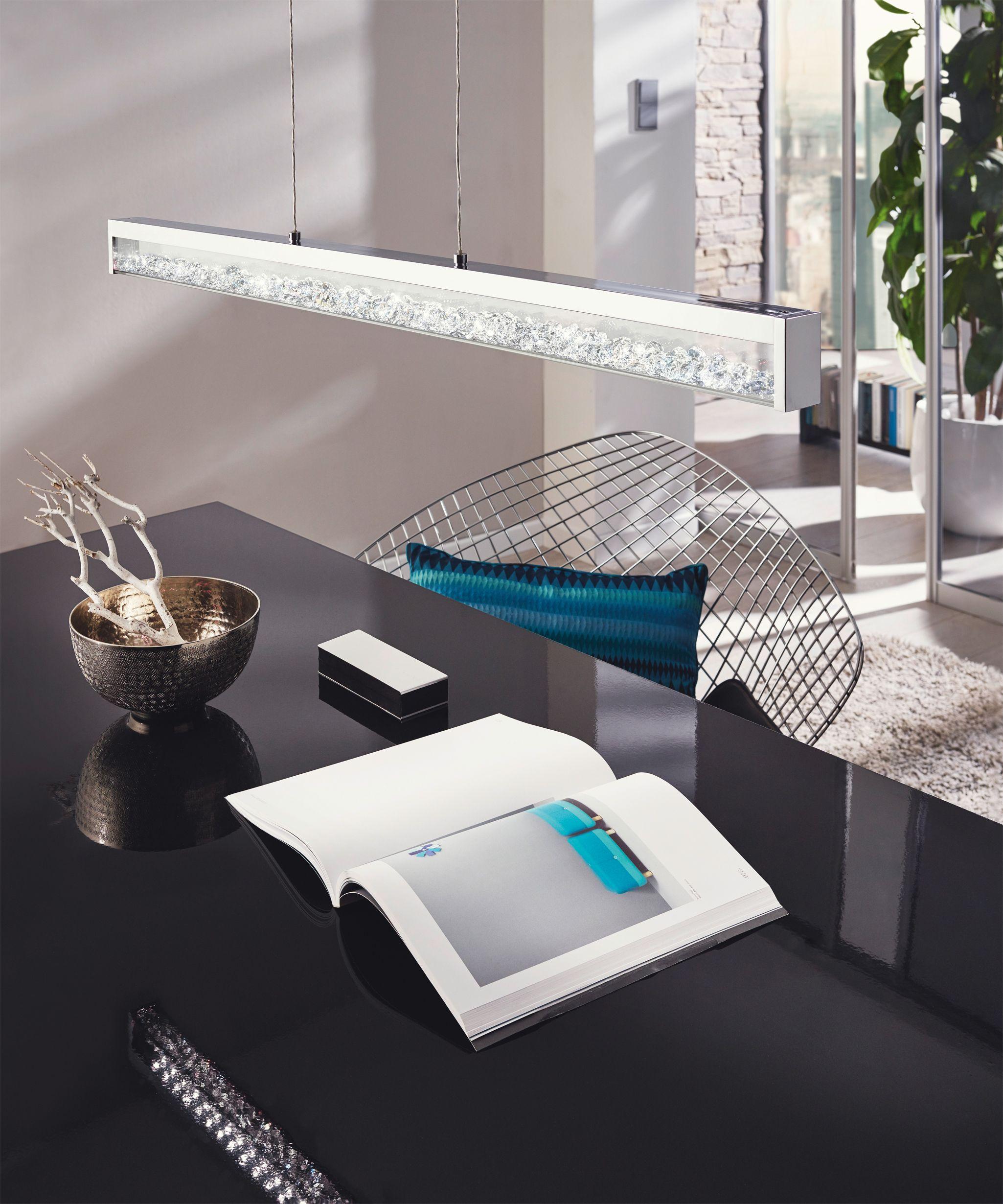 crystal pendant lighting for kitchen. Eglo Lighting / Cardito Glass \u0026 Crystal LED Modern Pendant Light With Chrome Finish For Kitchen T