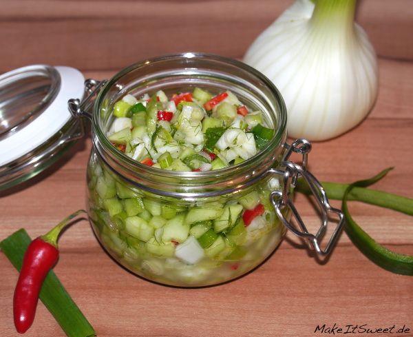 Vegetarische Sommerküche Rezepte : Gurken fenchel salsa rezept fenchel gurken und beilage