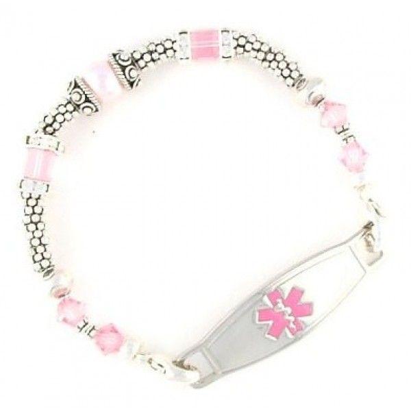 Beaded Medical Bracelets Fashionable Id
