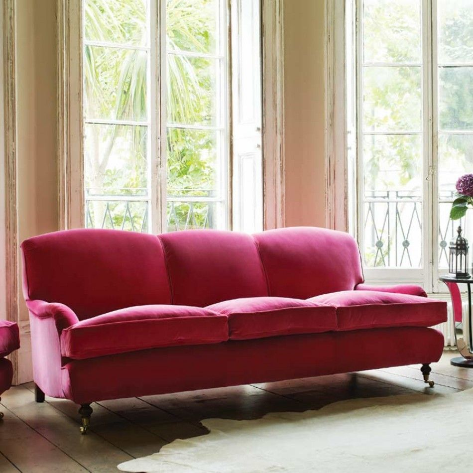Windsor Sofa Collection In Raspberry