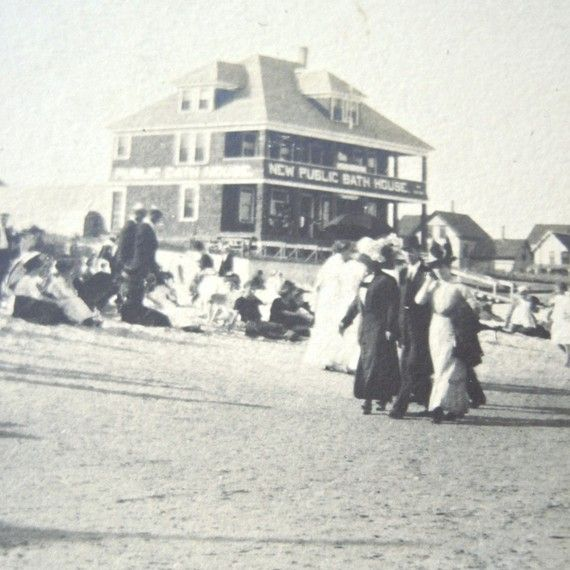 Fixing Up An Old New Englander In Maine: Old Orchard Beach Maine Photograph Early By