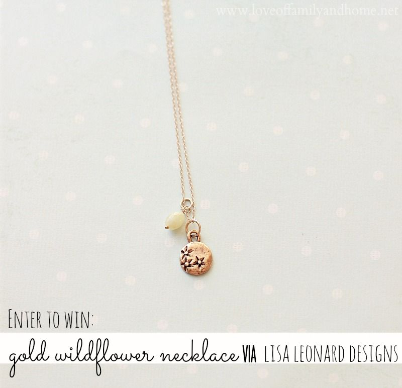 Love Of Family & Home: Lisa Leonard Necklace Review & Giveaway